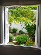 2015 Apt. 1 front room window view -
