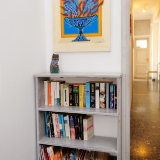 Apartment 4 Hall bookshelf -